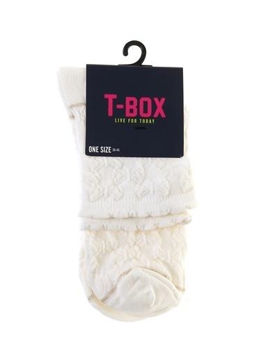 T-Box Soket Çorap Ekru